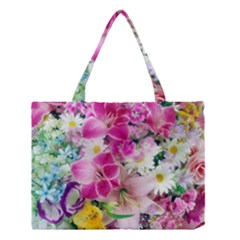 Colorful Flowers Patterns Medium Tote Bag by BangZart