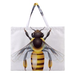 Bee Zipper Large Tote Bag by BangZart