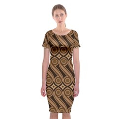 Batik The Traditional Fabric Classic Short Sleeve Midi Dress