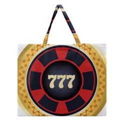 Casino Chip Clip Art Zipper Large Tote Bag by BangZart