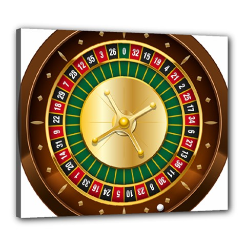 Casino Roulette Clipart Canvas 24  X 20