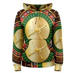 Casino Roulette Clipart Women s Pullover Hoodie
