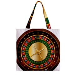 Casino Roulette Clipart Zipper Grocery Tote Bag by BangZart