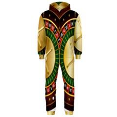 Casino Roulette Clipart Hooded Jumpsuit (men)