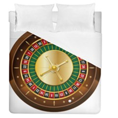 Casino Roulette Clipart Duvet Cover (queen Size)