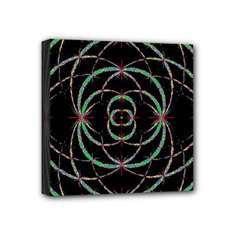 Abstract Spider Web Mini Canvas 4  X 4  by BangZart