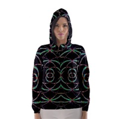 Abstract Spider Web Hooded Wind Breaker (women)