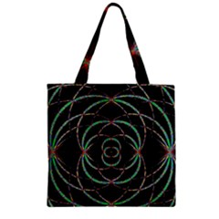 Abstract Spider Web Zipper Grocery Tote Bag by BangZart