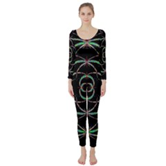 Abstract Spider Web Long Sleeve Catsuit