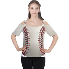 Baseball Cutout Shoulder Tee