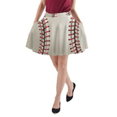 Baseball A Line Pocket Skirt by BangZart