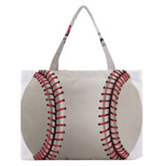 Baseball Medium Zipper Tote Bag