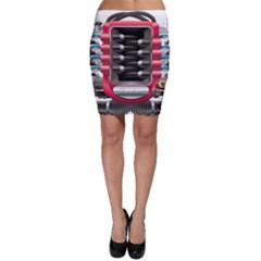 Car Engine Bodycon Skirt