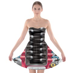 Car Engine Strapless Bra Top Dress