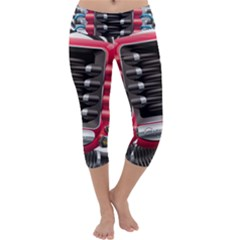 Car Engine Capri Yoga Leggings
