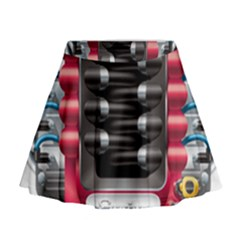 Car Engine Mini Flare Skirt