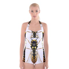 Wasp Boyleg Halter Swimsuit