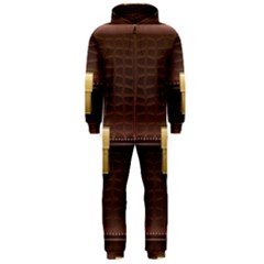 Brown Bag Hooded Jumpsuit (men)  by BangZart
