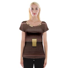 Brown Bag Cap Sleeve Tops