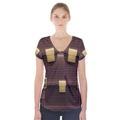 Brown Bag Short Sleeve Front Detail Top