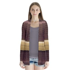 Brown Bag Drape Collar Cardigan