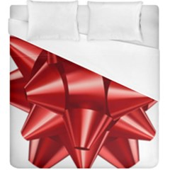 Red Bow Duvet Cover (king Size) by BangZart