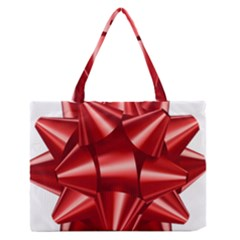 Red Bow Medium Zipper Tote Bag