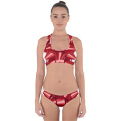 Red Bow Cross Back Hipster Bikini Set