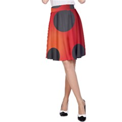 Ladybug Insects A Line Skirt by BangZart