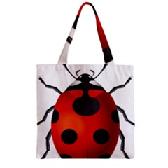 Ladybug Insects Zipper Grocery Tote Bag