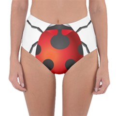 Ladybug Insects Reversible High Waist Bikini Bottoms by BangZart