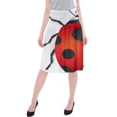Ladybug Insects Midi Beach Skirt