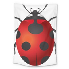 Ladybug Insects Large Tapestry by BangZart