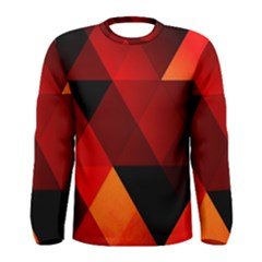Abstract Triangle Wallpaper Men s Long Sleeve Tee