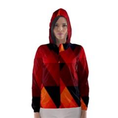 Abstract Triangle Wallpaper Hooded Wind Breaker (women)