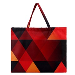 Abstract Triangle Wallpaper Zipper Large Tote Bag by BangZart