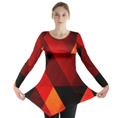Abstract Triangle Wallpaper Long Sleeve Tunic