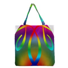 Colorful Easter Egg Grocery Tote Bag by BangZart