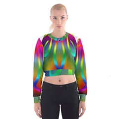 Colorful Easter Egg Cropped Sweatshirt