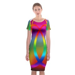 Colorful Easter Egg Classic Short Sleeve Midi Dress