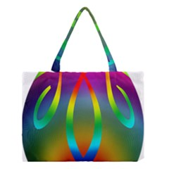 Colorful Easter Egg Medium Tote Bag by BangZart