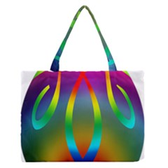 Colorful Easter Egg Medium Zipper Tote Bag