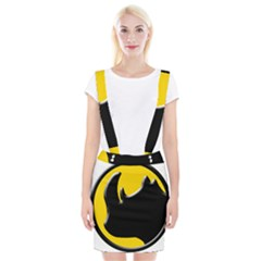Black Rhino Logo Braces Suspender Skirt