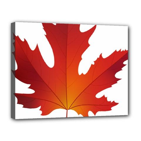 Autumn Maple Leaf Clip Art Canvas 14  X 11  by BangZart