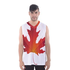 Autumn Maple Leaf Clip Art Men s Basketball Tank Top