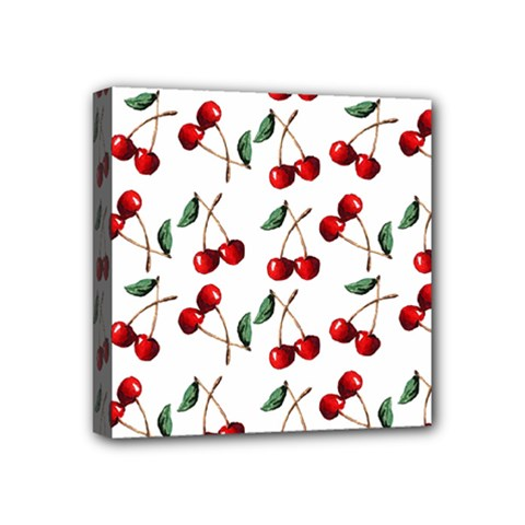 Cherry Red Mini Canvas 4  X 4  by Kathrinlegg