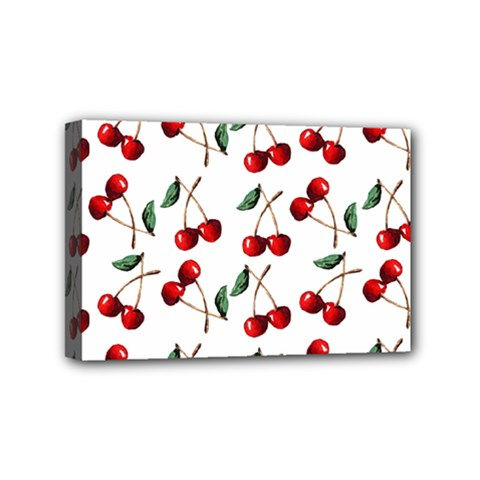 Cherry Red Mini Canvas 6  X 4  by Kathrinlegg