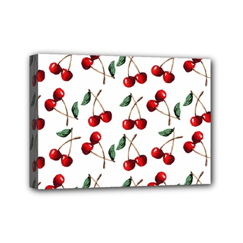Cherry Red Mini Canvas 7  X 5  by Kathrinlegg