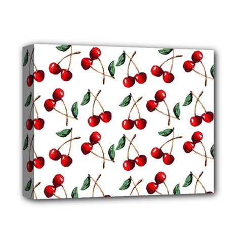 Cherry Red Deluxe Canvas 14  X 11  by Kathrinlegg