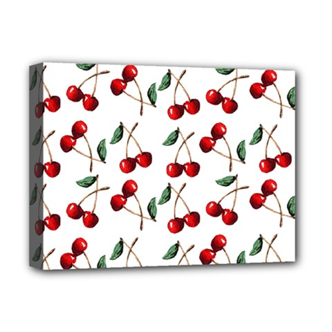 Cherry Red Deluxe Canvas 16  X 12   by Kathrinlegg